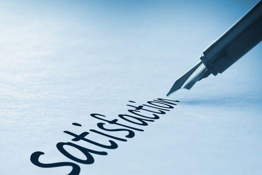 Fountain pen writing Satisfaction