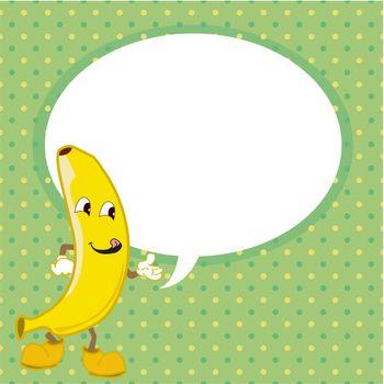 banana with speech bubble vector