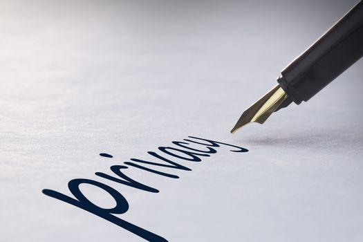 Fountain pen writing Privacy