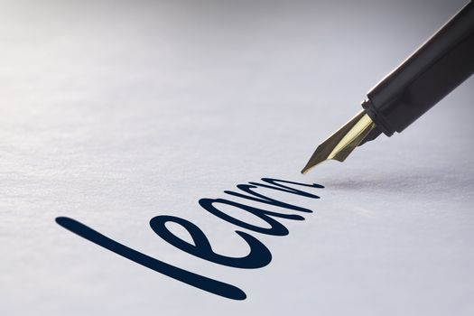 Fountain pen writing Learn