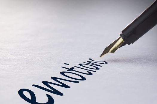 Fountain pen writing Emotions