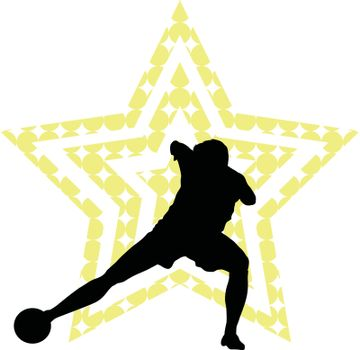 Soccer star concept