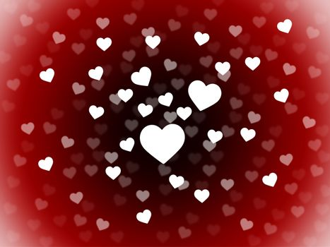 Bunch Of Hearts Background Showing Romance  Passion And Love
