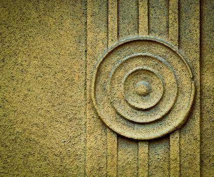 circular pattern on plaster