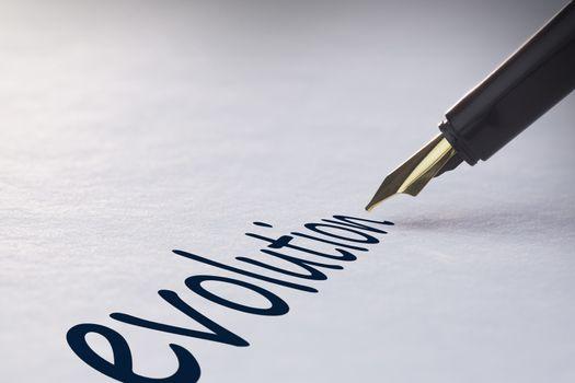 Fountain pen writing Evolution