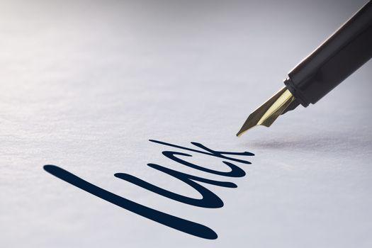 Fountain pen writing Luck