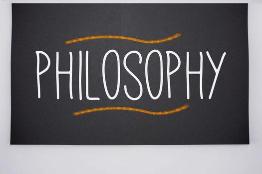Philosophy written on big blackboard