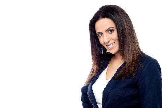 Smiling female business executive