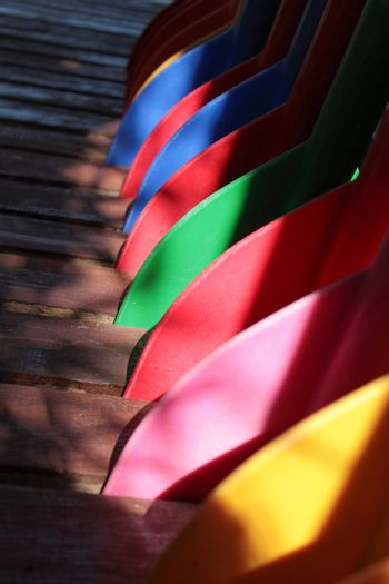 colorful oars