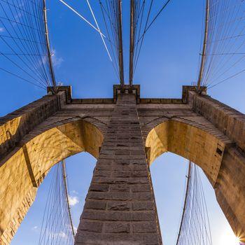 famous Brooklyn Bridge in New York