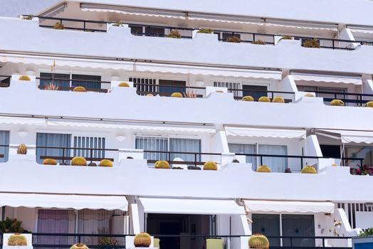 Balcony at luxury tropic hotel