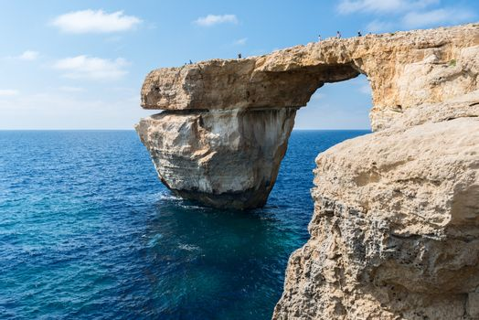 Azure Window formation and people on it