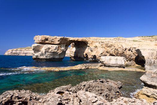 Azure Window formation on Gozo Island Malta