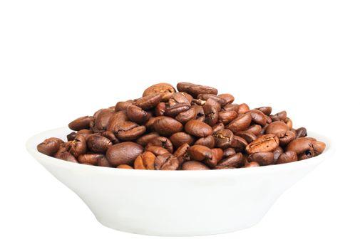 Roasted black coffee beans