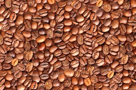 Background of roasted black coffee beans