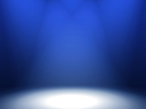 three spotlights