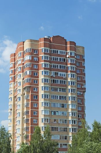 Multi-storey residential building in Chernogolovka, near Moscow, Russia