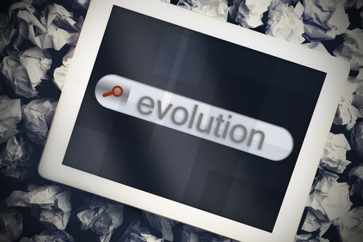 Evolution in search bar on tablet screen