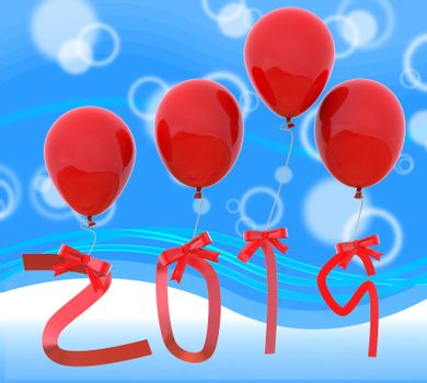 Twenty Nineteen Indicating Happy New Year And Happy New Year