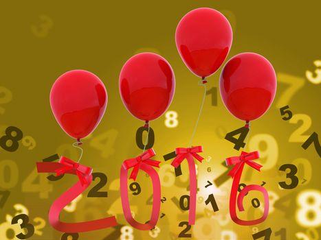Twenty Sixteen Representing Happy New Year And New Year