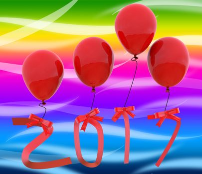 Twenty Seventeen Representing Happy New Year And New Year