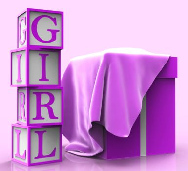 Girl Giftbox Meaning Occasion Package And Female