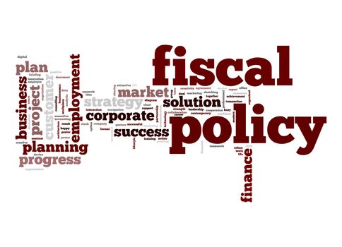 Fiscal policy word cloud