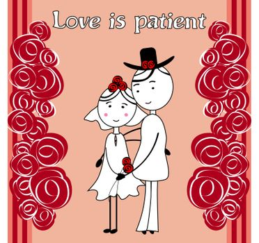 Love is patient,love is kind