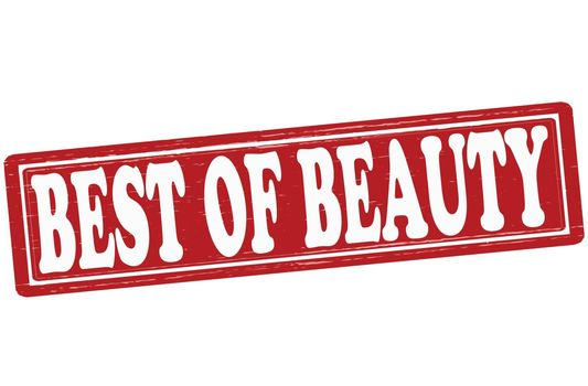 Stamp with text best of beauty inside, vector ilustration