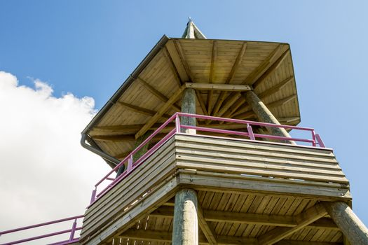 Wooden observation point
