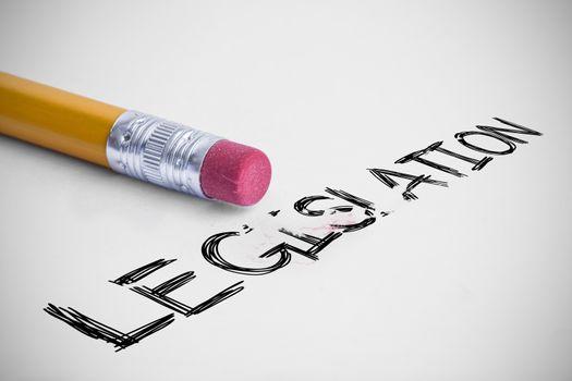 Legislation against pencil with an eraser