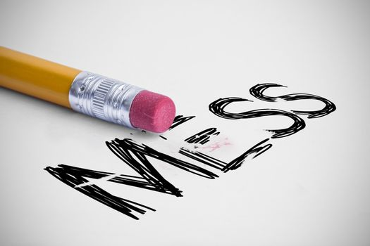 Mess against pencil with an eraser