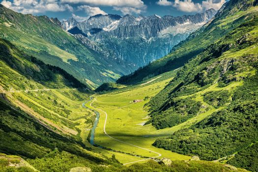 Majestic mountains view