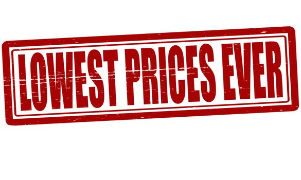 Lowest price ever