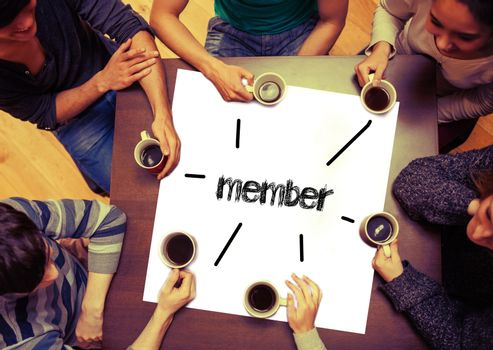 Student sitting around page say Member