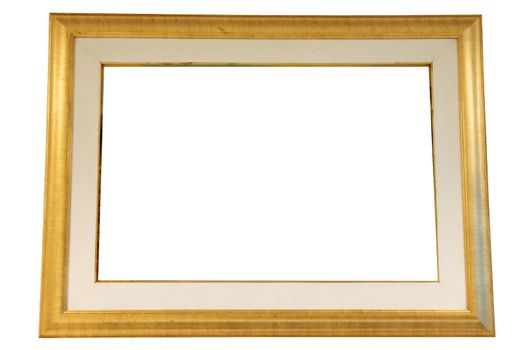 The Picture Gold Wood frame on white background.