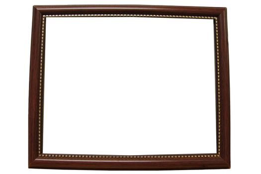 The Picture Wood frame on white background.