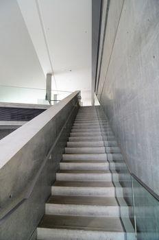 Bare concrete staircase