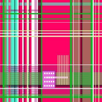 plaid 13008bt pink green