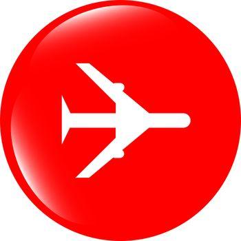 plane, travel web icon design element