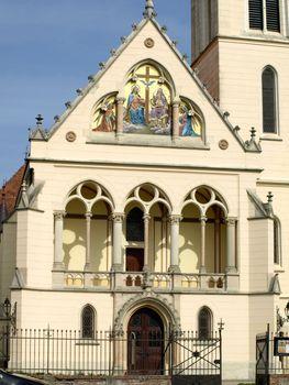 the curch facade