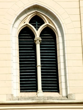 window in the church tower