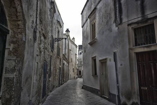 Old alley  in the old town of Lecce in the southern of Italy