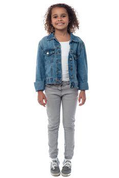 Little fashionable girl posing