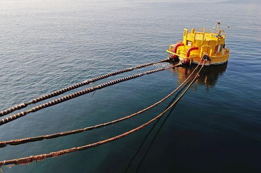 oil-carrier in port for loading