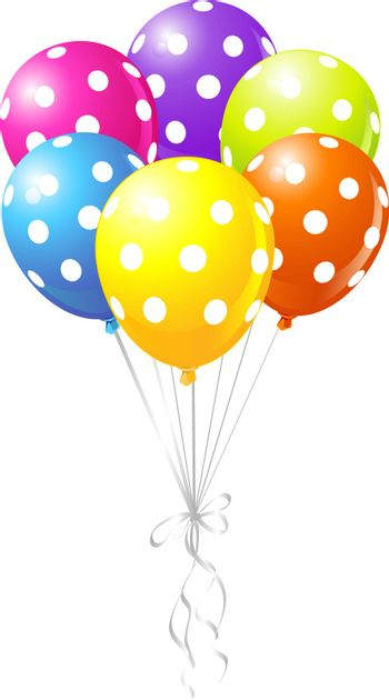 Colorful Dotted Balloons
