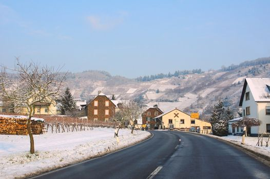 winter on the Moselle