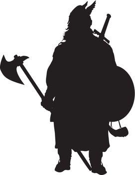 Viking silhouette. Warriors Theme