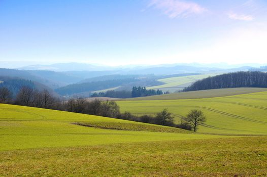 landscape in the Hunsrück