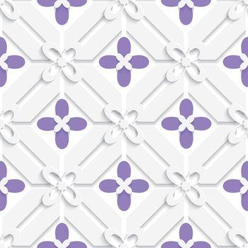 Purple flourish simple diagonal pattern